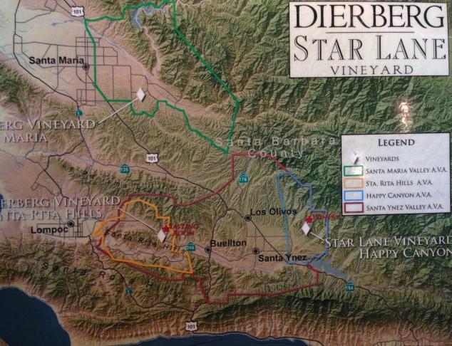 Dierberg Star Lane Vineyard Map