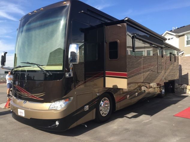 Our new bus on the lot of GeneralRV
