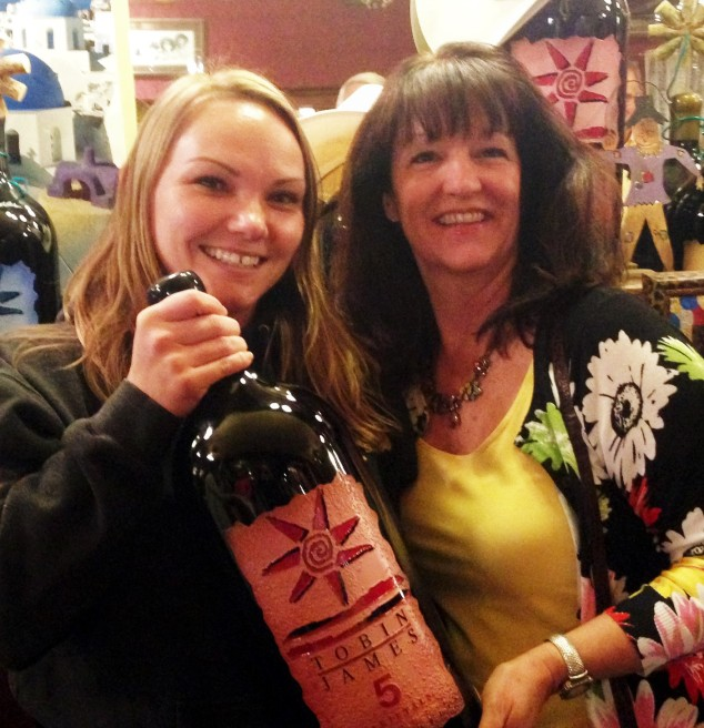 Jill helps wth selecting and pours