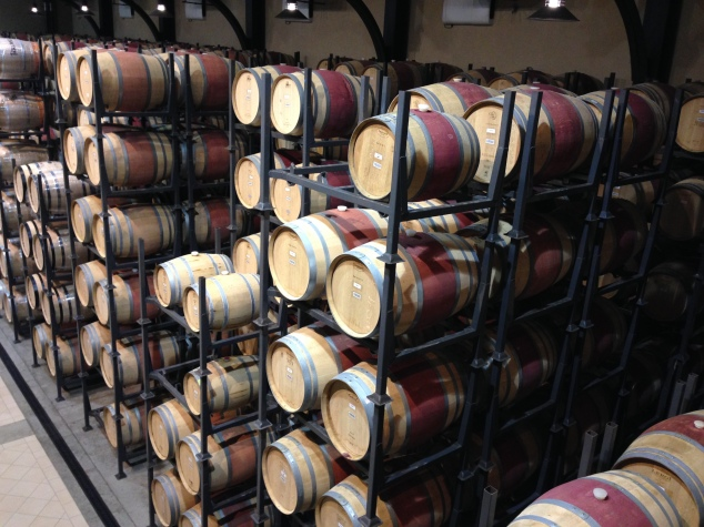 Red wine barrels get red stripe