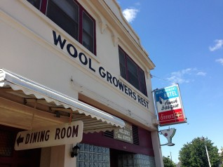 Wool Growers outside