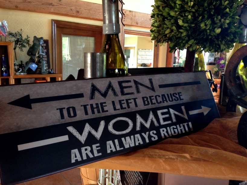 Men Women Wine Sign