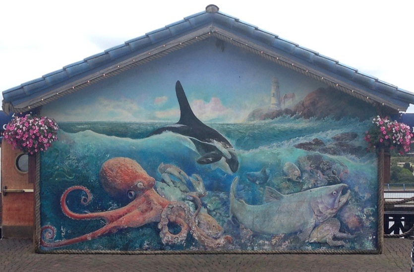 Mural on resaurant