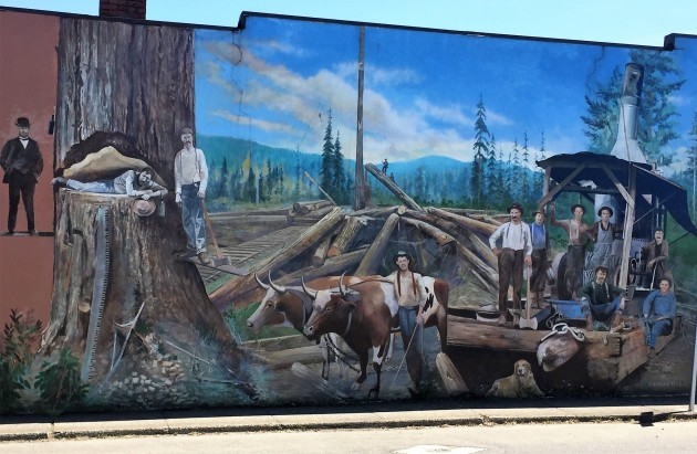 Sweet Home Mural Lumber Jacks