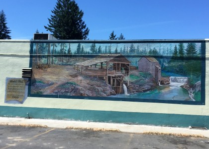 Sweet Home Water Mill Mural