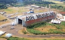 Tillamook Air Museum hanger aerial view