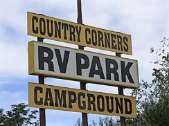Country Corners Sign