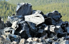 Newberry Caldera Obsidian Flow