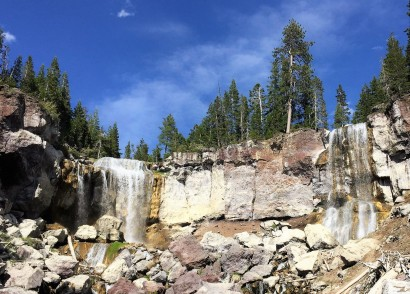 Twin falls down rock