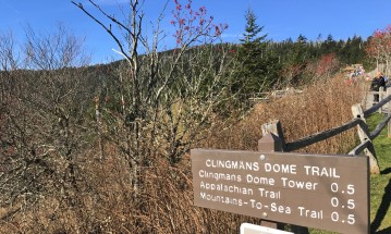 clingmans-dome-trail-sign