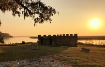 fort-frederica-sunset